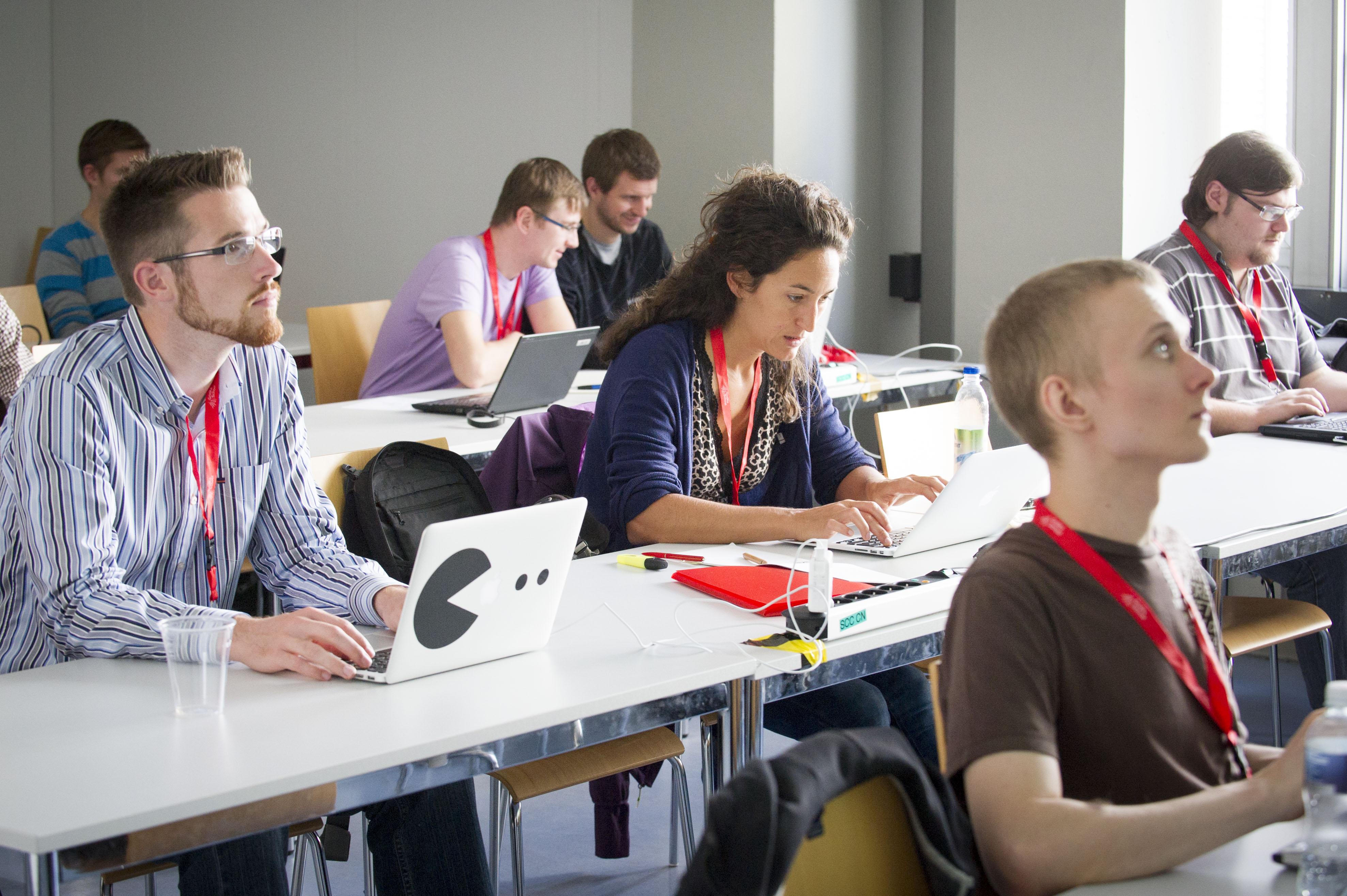 attentive at GridKa School 2015 (photo by Tanja Meissner, KIT)