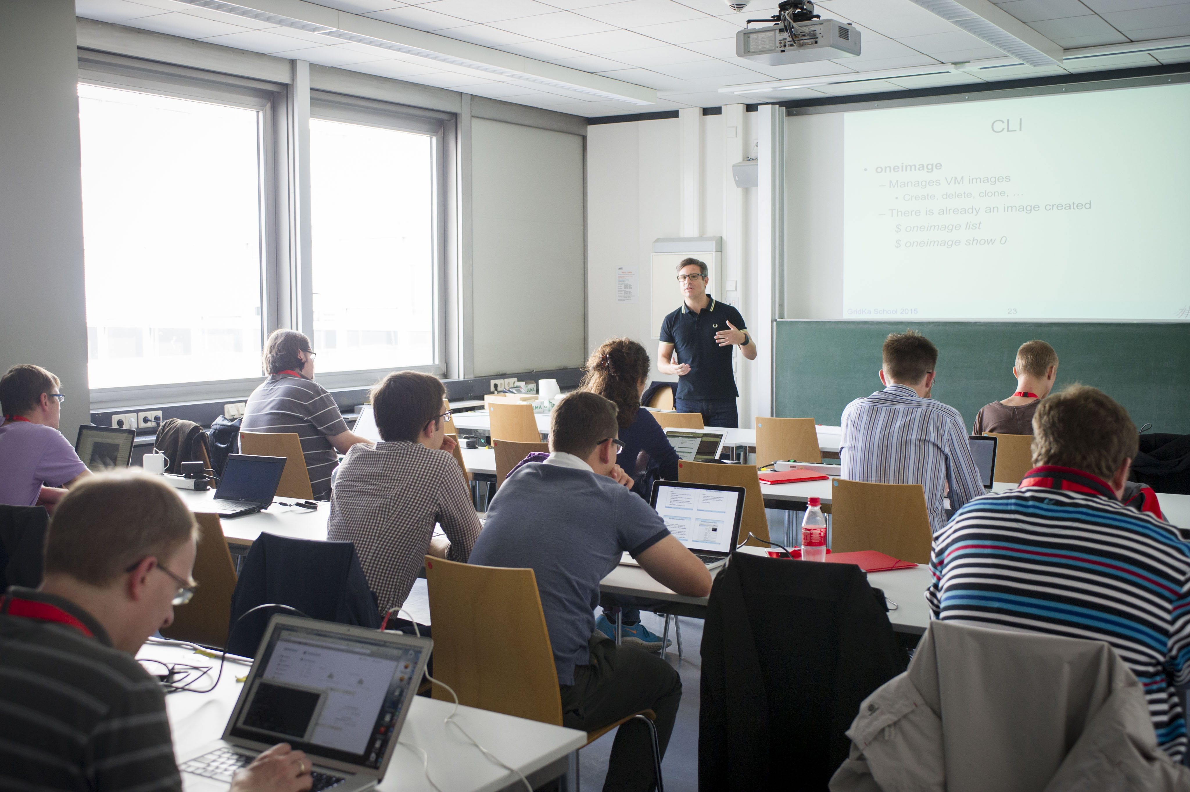 HPCCloud 101 with Jose Luis Vazquez-Poletti (photo by Tanja Meissner, KIT)